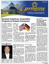Germanna Foundation Newsletter, Spring 2013