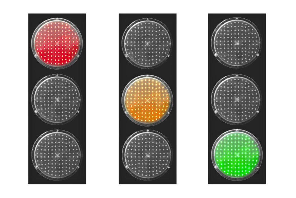 Red light green light for dogs