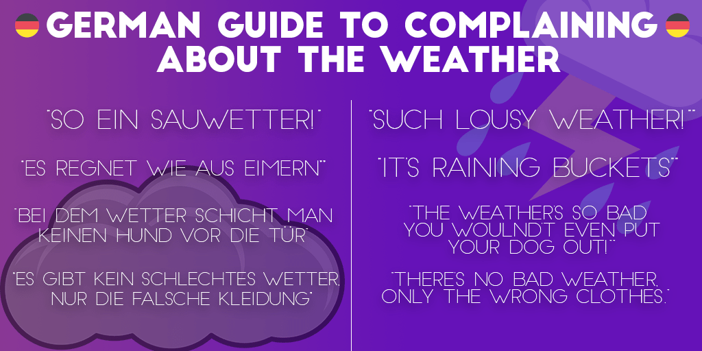 A German guide to complaining about the weather