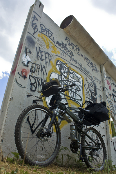 Bikers will still find bits of the original wall
