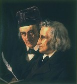 Jacob (right) and Willhem Grimm, left.