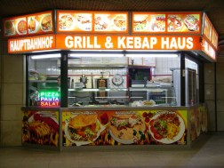 Kebab house in Frankfurt station subway