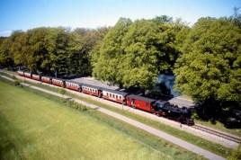 the Molli train between Bad Doberan and Bad Heiligendamm