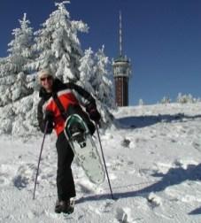 snow shoes on the Feldberg, Black Forest ski