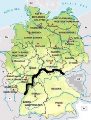 Map Of South Germany.The South Germany Is Wunderbar