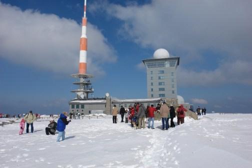 top of Brocken in snow
