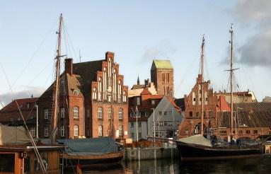 Wismar's maritime architecture reflects the Hanseatic era