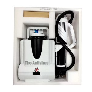 The 'Antivirus' Electrostatic Sprayer CURRENTLY IN STOCK!! Limited availability due to extremely high demand.   Decontaminate and attack viruses and microbes with the power of our state-of-the-art electrostatic disinfecting machine. Maximize your output and get up to 4x more surface coverage than with traditional cleaning equipment with this proven technology. One tank can cover up to 21,500 sq/ft of space in nearly any environment to help reduce infection rates even in the largest facilities.  Benefits of using The Antivirus Electrostatic Sprayer:   Consumes up to 65% less chemicals  Applies disinfectants up to 70% faster  Works with any EPA-approved, water-based disinfectant  No need for external power supply, one-button start, flexible and convenient  Military-grade waterproof standard, high-speed brushless fan  Intelligent automatic water cleaning cycle system  Multi-functional imported ceramic spray head, can be switched at will, ultra-low, can be used both indoor and outdoor  Built-in power display LCD screen can show working time and environment temperature at any time  Long continuous working for 6-8 hours indoors and 3.5 hours outdoors on a single charge  Intelligent fast charge-only two hours when fully charged, sustainable work  No pollution, zero emission, no exhaust, low noise  Large caliber water inlet  Warranty: 12-month limited warranty on parts  Current delivery time of 7-14 business days from order date with Express Shipping.  Standard delivery time for Free Shipping of 4-6 weeks. Requires custom promo code, please ask via live chat.  For wholesale or bulk orders, please use the Contact us page.  Important Notice: This is not a pesticide device and is not to be used as such. This is only meant to disperse cleaning and disinfecting products according to those product instructions. We do not sell any pesticides or pesticidal products.