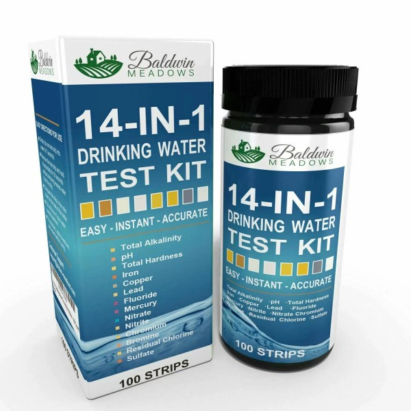 14-in-1 Drinking Water Test Kit According to the EPA, 41 states have reported higher than acceptable levels of lead in drinking water. A 2016 Harvard study found industrial chemicals and pollutants linked with cancer, hormone disruption and other health problems in the drinking water of 33 states.  Health problems associated with contaminated well water and municipal water: • Cancer • Reproductive Problems • Neurological Disorders (particularly children, pregnant women, the elderly and people with weakened immune systems) • Gastrointestinal Illness • Many more chronic diseases  Each test kit comes with 100 Test Strips, 1 Extra Color Chart and an EPA Chart.