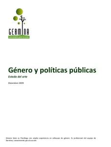 portada - género y políticas públicas, estadod del arte