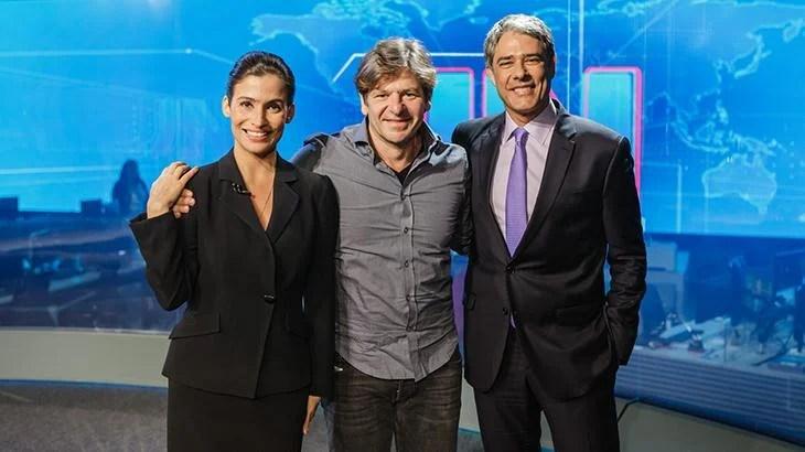 Renata Vasconcellos, Alexandre Arrabal e William Bonner (Foto: Divulgação/Globo)