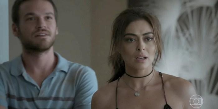 Emilio Dantas (Rubinho) e Juliana Paes (Bibi) em cena de A Força do Querer, que disparou audiência da Globo (Foto: Reprodução/Globo)
