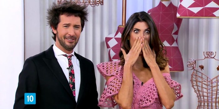Arlindo Grund e Isabella Fiorentino no Esquadrão da Moda (Foto: Reprodução/SBT)