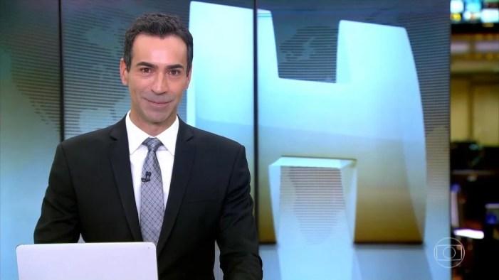 César Tralli deixará o comando do vespertino Jornal Hoje após 15 dias ancorando e cobrindo as férias da titular Maju Coutinho (Foto: Reprodução)