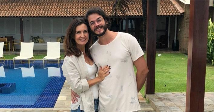 Túlio Gadêlha compartilhou fotos ao lado de Fátima Bernardes (Foto: Reprodução)
