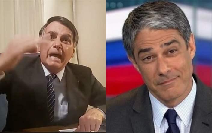 Jair Bolsonaro fala mal do jornalista da Globo, William Bonner (Foto: Reprodução)