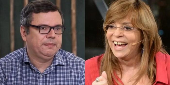 Os autores João Emanuel Carneiro e Gloria Perez; Globo definiu a fila do horário das 21h (Foto: Reprodução/TV Globo/Montagem)