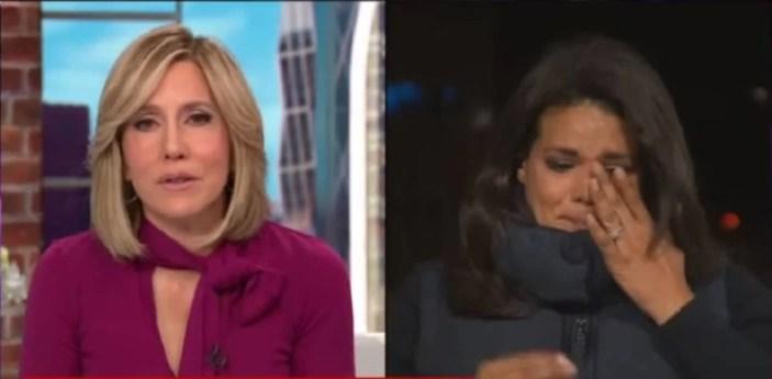 Sara Sidner da CNN chorou (Foto: Reprodução)