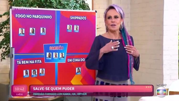 Ana Maria Braga em momento que fala do BBB21 (Foto: Reprodução)