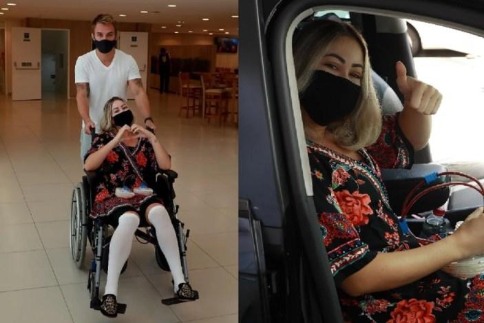 Carol após cirurgia (Imagens: Francisco Cepeda / AgNews)