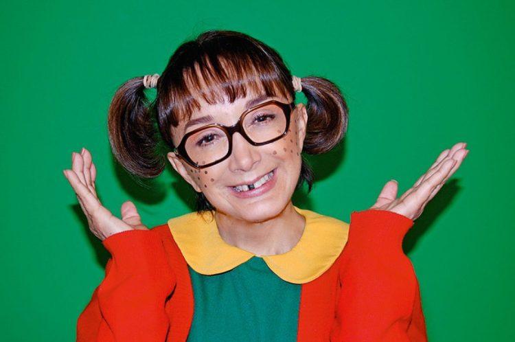 María Antonieta de Las Nieves interpretando a Chiquinha do seriado Chaves (Foto: Reprodução)