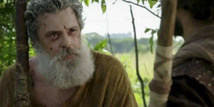 Raymundo de Souza em cena de Gênesis; ator volta às novelas após drama de saúde (Foto: Divulgação/Record TV)