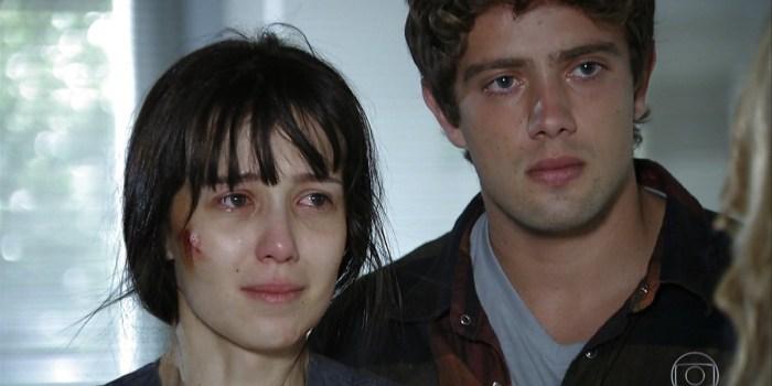 Marjorie Estiano (Manuela) e Rafael Cardoso (Rodrigo) em A Vida da Gente; reprise bateu recorde de ibope (Foto: Reprodução/TV Globo)