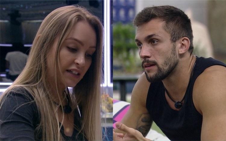 BBB21: Carla Diaz e Arthur conversam sobre o jogo e participante se irrita (Foto: Reprodução)
