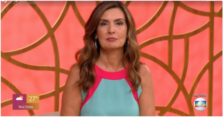 Fátima Bernardes voltou a falar de situação do país e foi criticada (Foto: Reprodução)
