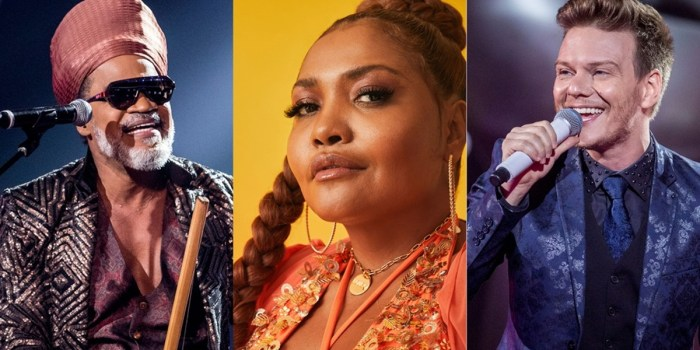 Carlinhos Brown, Gaby Amarantos e Michel Teló, os novos jurados do The Voice Kids (Foto: Divulgação/TV Globo)