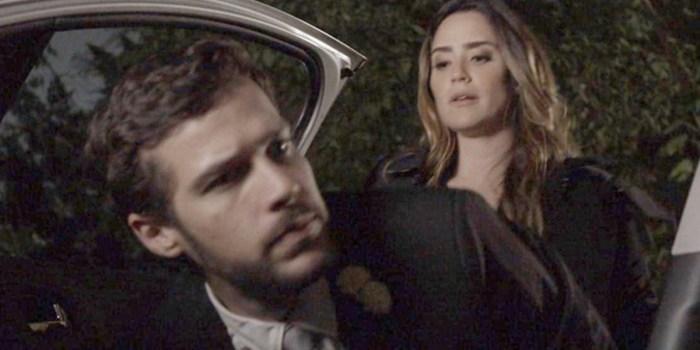 Bruna (Fernanda Vasconcellos) sequestra Giovanni (Jayme Matarazzo) em Haja Coração (Foto: Reprodução/TV Globo)