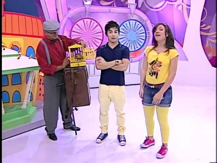 Seu José participando do Bom Dia e Cia junto com Yudi e Priscilla (Foto: Reprodução)