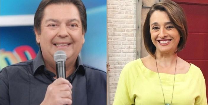 Faustão e Catia Fonseca (Foto: Reprodução)