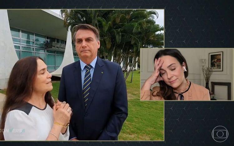 Gabriela Duarte tem reação inesperada após ver mãe junto a Bolsonaro (Foto: Reprodução)