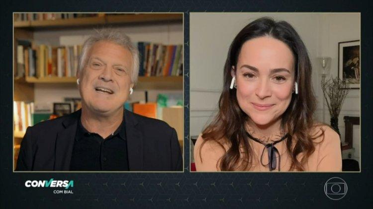Bial e Gabriela Duarte em entrevista (Foto: Reprodução)