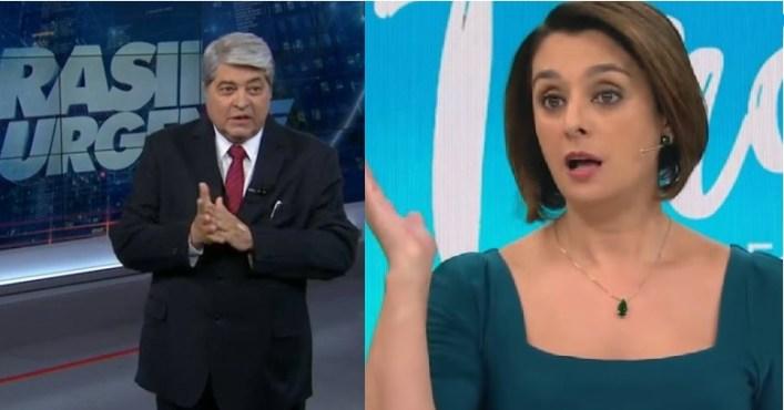 Datena e Cátia Fonseca (Foto: Reprodução)