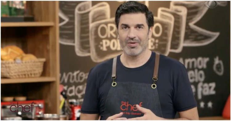 Edu Guedes interrompeu o The Chef para falar de história de convidado (Foto: Reprodução)
