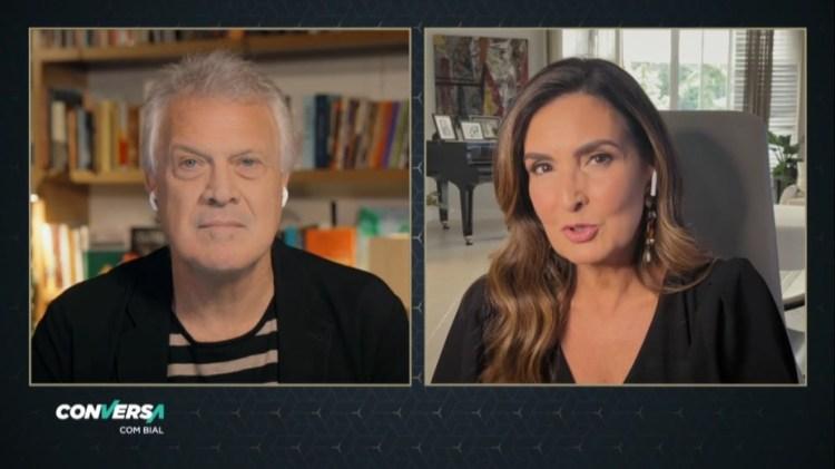 Fátima Bernardes é entrevistada no Conversa com Bial (Foto: Reprodução)
