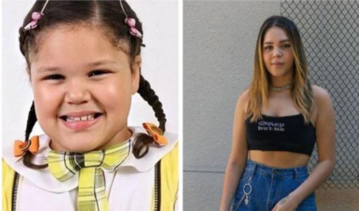 Antes e depois da Aysha Benelli (Foto: Reprodução)