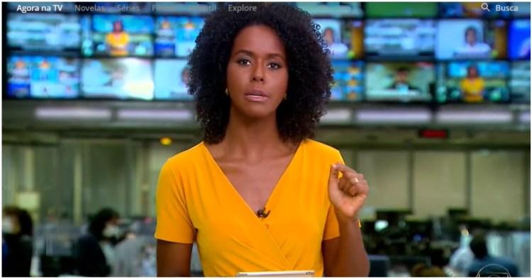 Maju Coutinho invadiu programação da Globo e soltou bomba sobre brasileiros (Foto: Globo)
