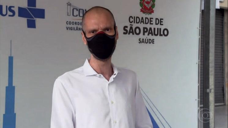 Bruno Covas foi homenageado durante plantão da Globo (Foto: Reprodução)
