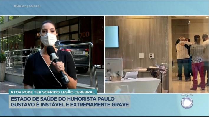 Record exibe família de Paulo Gustavo em hospital (Foto: Reprodução / R7)