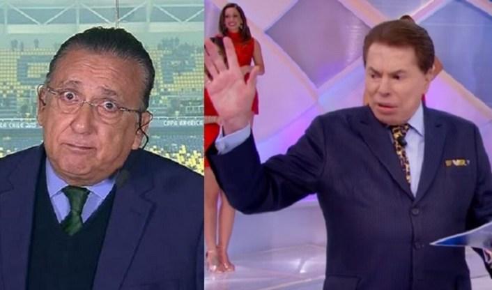 Galvão Bueno e Silvio Santos (Foto: Reprodução)