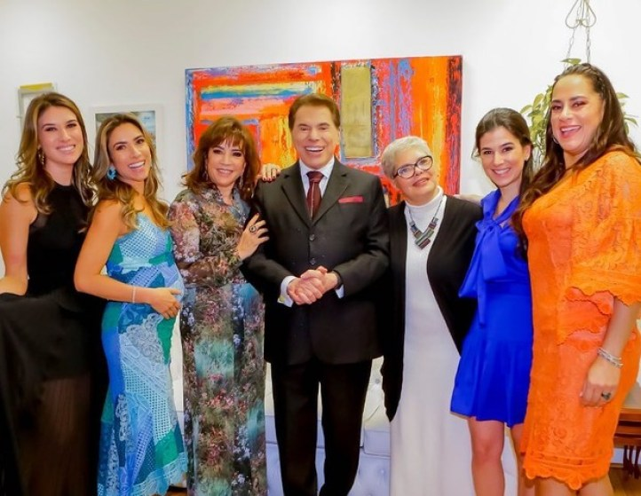 Silvio Santos dono do SBT e filhas (Foto: Reprodução)