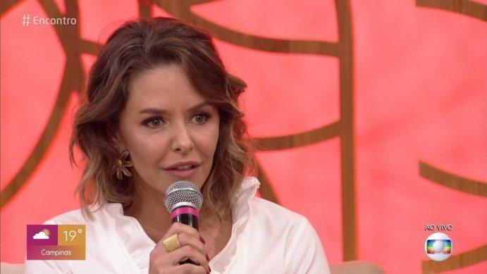 Bianca no Encontro com Fátima Bernardes da TV Globo (Foto: Reprodução0