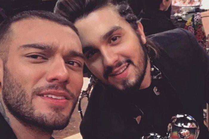 Luan Santana e Lucas Lucco se acusaram de ter um romance, mas não se pronunciaram (Foto: Reprodução)
