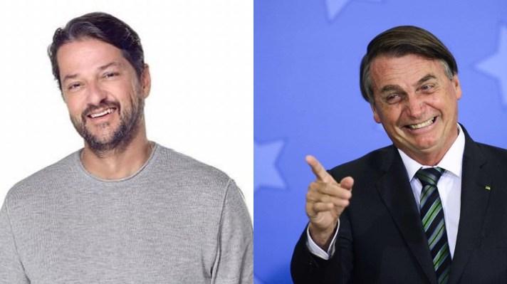 Marcelo Serrado e Bolsonaro ( Foto: Reprodução)
