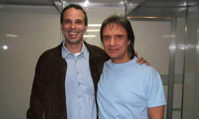 O cantor Roberto Carlos e Dudu Braga juntos (Foto: Reprodução)