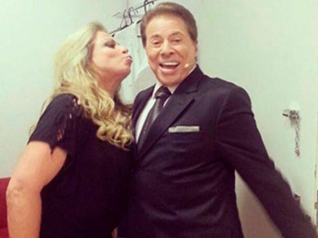Christina e Silvio Santos (Foto: Reprodução)