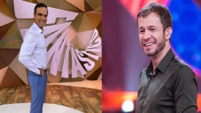 Os apresentadores da Globo, Tadeu Schmidt e Tiago Leifert (Foto: Reprodução)